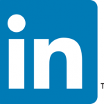 linkedin logo blue box