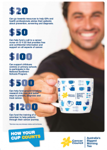 Time for a cuppa to help OBT beat cancer!