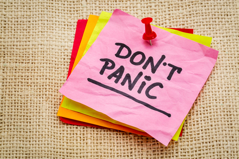 don't panic post-it note